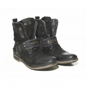 ES Leather Boots Zwart