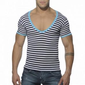 ES Sailor V Neck T Shirt Turquoise