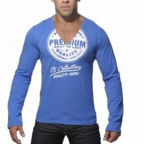 ES Longsleeve Printed T-Shirt Blauw