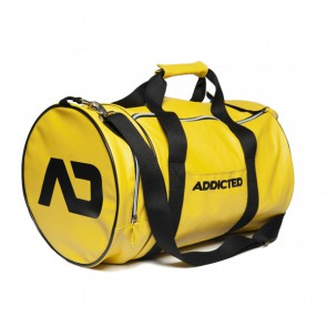 Addicted Round Gym Bag - Geel schuin