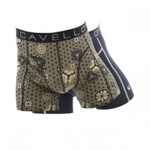 Cavello 2 Pack Boxershorts - Bootjes Print / Zwart