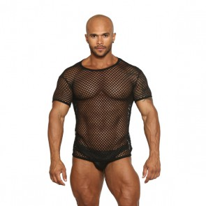Black Unicorn - Greek Fishnet Muscle T-Shirt - Zwart