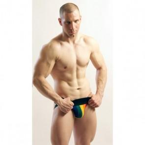 Activeman Classic Jockstrap Rainbow Zwart