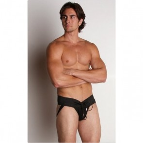 Activeman Lace Up Jockstrap Zwart