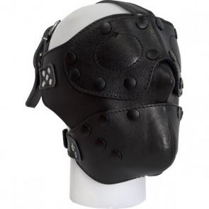 Lederen gezichtsmasker verwisselbare ogen & mond