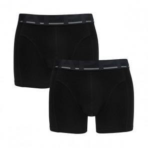Sapph Cotton Short 2 Pack - Zwart