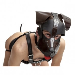 Mister B Floppy Dog Hood Black-Brown
