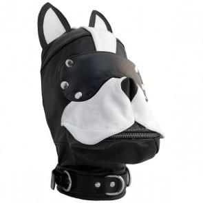 Mister B - Honden Masker Zwart/ Wit