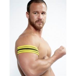 Mister B Neoprene Biceps Band Zwart Geel