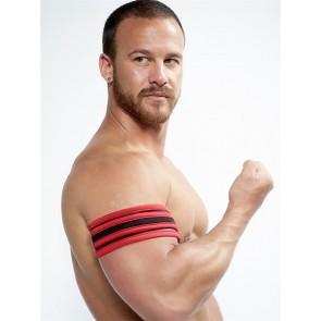 Mister B Neoprene Biceps Band Zwart Rood