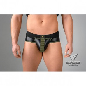 Maskulo Enforce Shot Belt Codpiece Brief - Zwart