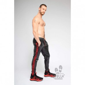 Maskulo Skulla Leatherette Pants - Rood zijkant