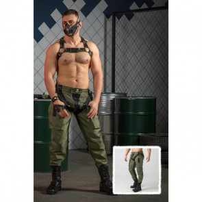 Maskulo Enforce 2-Way Rits Broek - Leger Groen