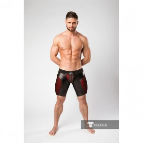 Maskulo Armored Color-Under Fetish Shorts - Red