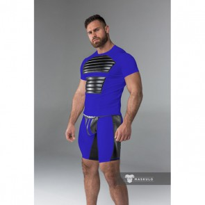 Maskulo Armored Men's Fetish Shorts - Royal Blue