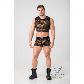 Maskulo Enforce Crop Top - Camouflage