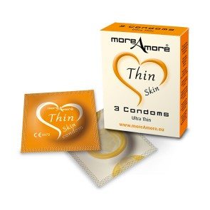 MoreAmore Thin Skin Condooms 3 st.