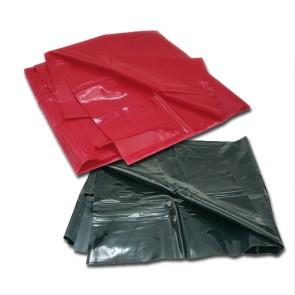 Bedlaken 158 x 227 cm Vinyl rood / zwart