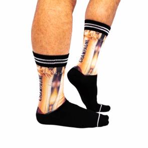 Sock my Champagne - Heren Sokken zijkant