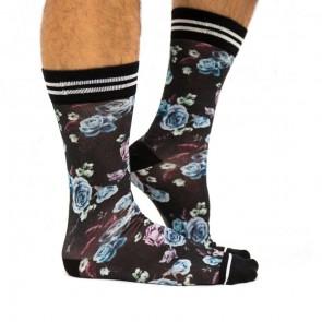 Sock My Dark Flowers - Heren Sokken zijkant