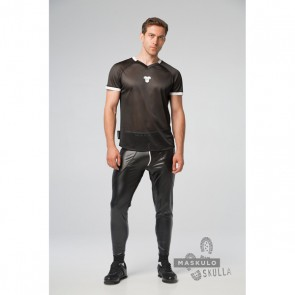 Maskulo Skulla Fetish T-Shirt - Wit