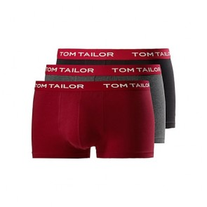 Tom Tailor Boxershort 3 Pack Black-Red-Grey