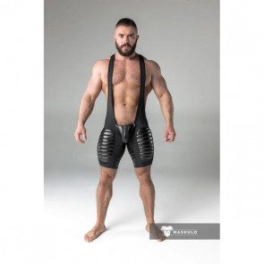 Maskulo Armored Men's Fetish Wrestling Singlet - Blauw